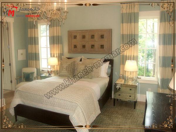 مدلهای راه راه زیبا برای پرده اتاق خواب تصویر چند مدل پرده