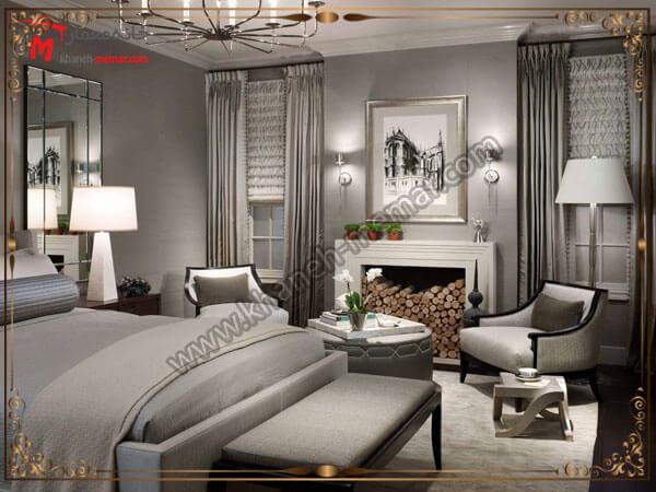 انتخاب رنگ پرده ترکیب رنگی یکسان برای پرده و اتاق خواب