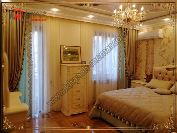 دکور کلاسیک اتاق خواب مدل پرده اتاق خواب