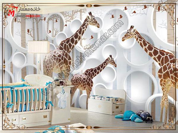 طراحی زیبای دیوار اتاق کودک