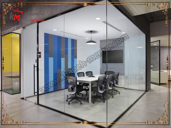 طراحی اتاق های شیشه ای برای کار در دفتر