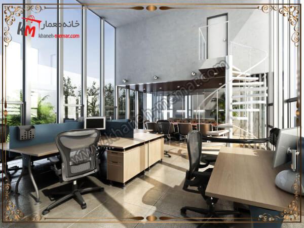 طراحی دفتر کار به سبک مدرن