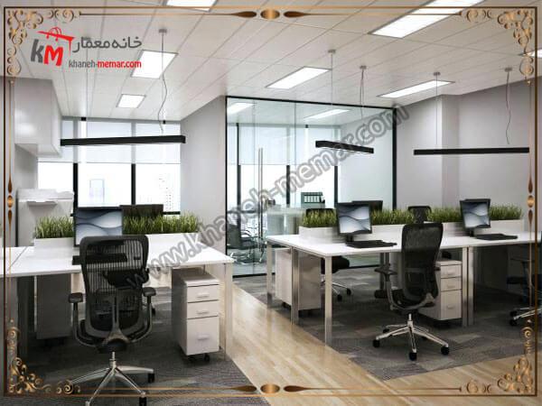 نورپردازی یک دفتر کار شیک و زیبا