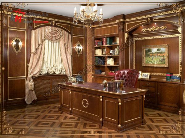 شیک ترین دفتر کاری به سبک کلاسیک