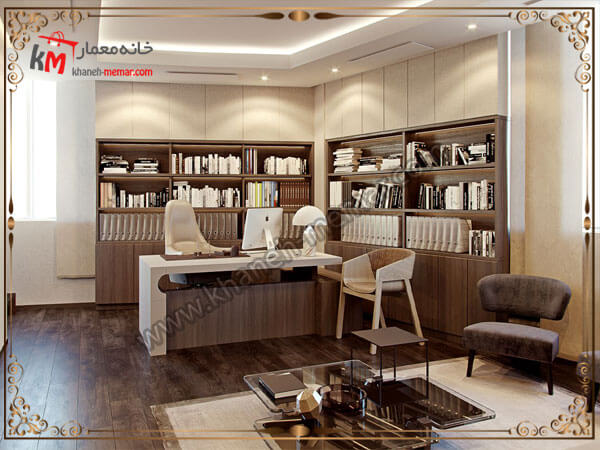 دفتر کاری طراحی شده زیبا و شیک