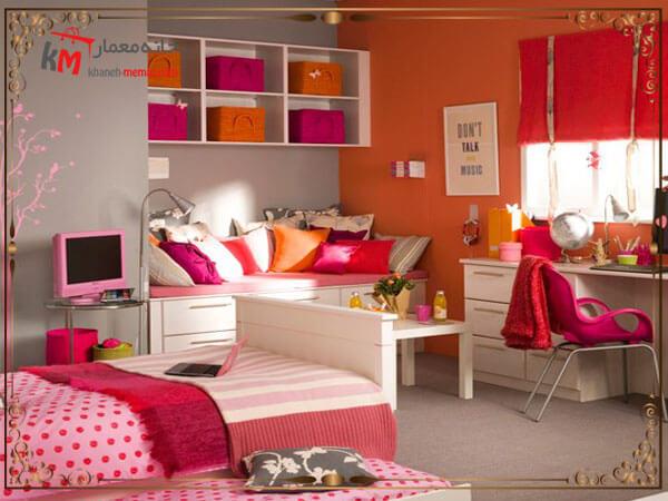 دکوراسیون اتاق کودک دختر در خانه های کوچک