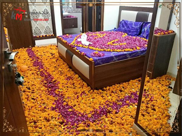 جایگذاری تخت عروس در اتاق