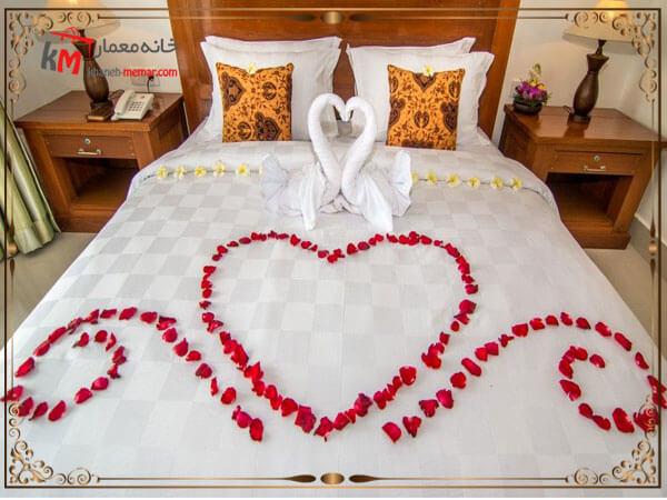 مرتب بودن اتاق خواب عروس
