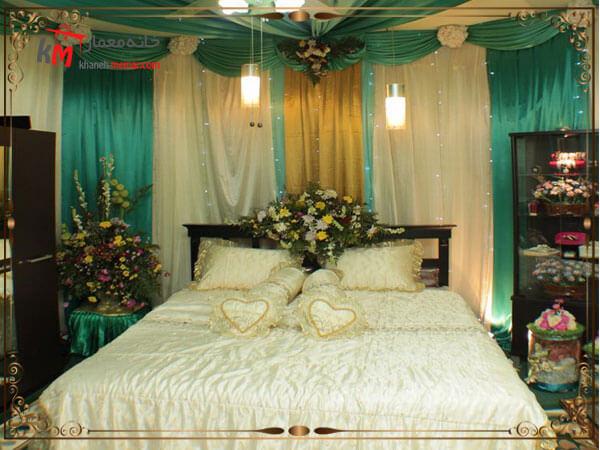 رنگ پرده اتاق خواب عروس