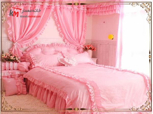 رنگ پرده در اتاق خواب عروس