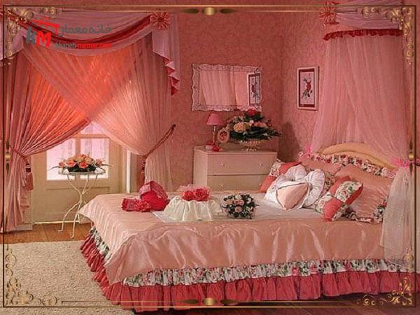 اتاق خواب عروس بسیار شیک و زیبا