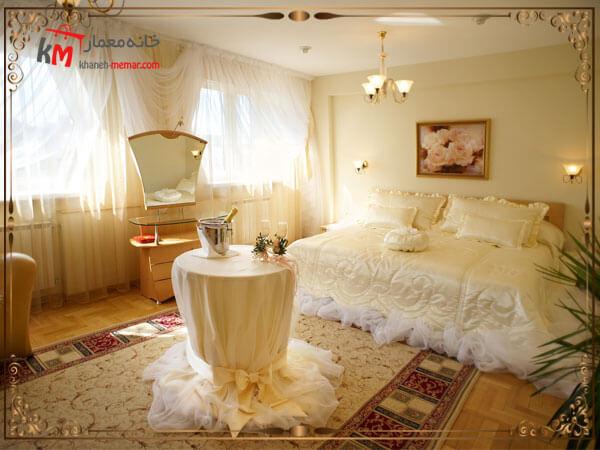 تزیین زیبای اتاق خواب عروس