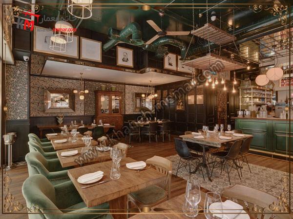 کافه زیبا با طراحی مدرن برای قرارهای دوستانه و کاری