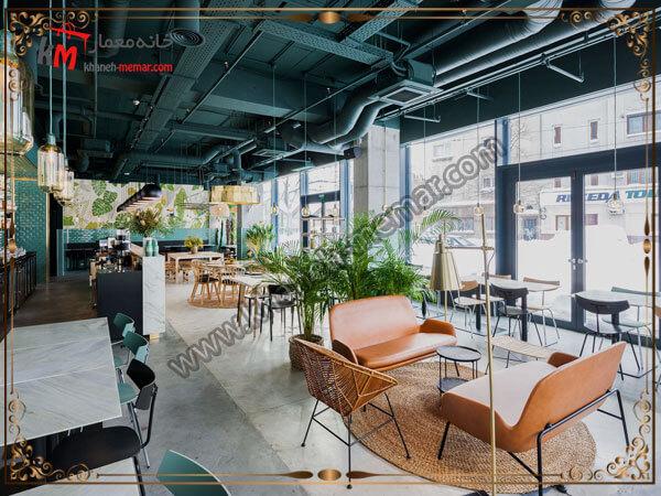 استفاده از گل و گیاه برای طراحی دکوراسیون کافه