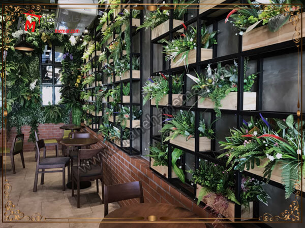 استفاده از گا و گیاه برای محیط کافه
