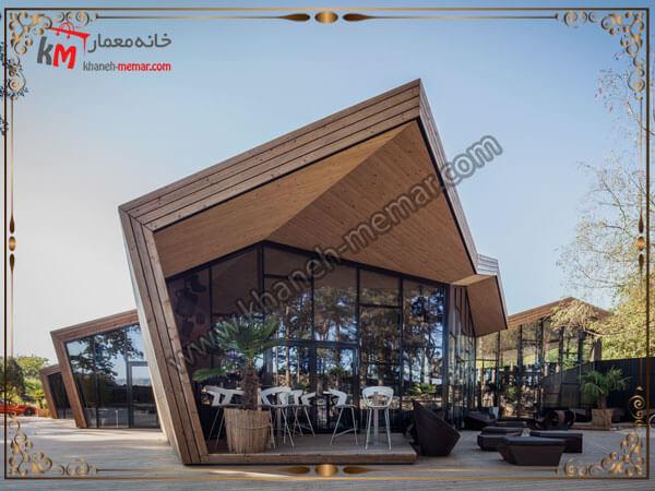 نمای بیرونی طراحی کافه