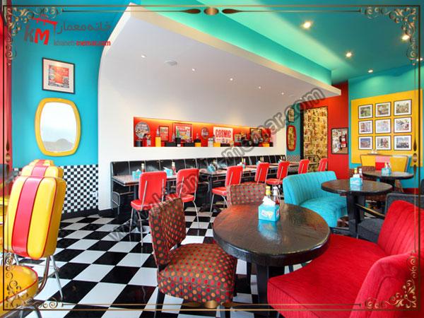 کافه های با طرح ها و رنگهای متنوع
