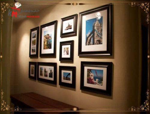 بهترین ایده چیدمان قاب عکس برای خانه و اتاق کار
