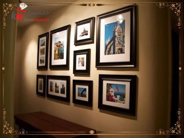 چیدمان قاب عکس در دکوراسیون داخلی ساختمان