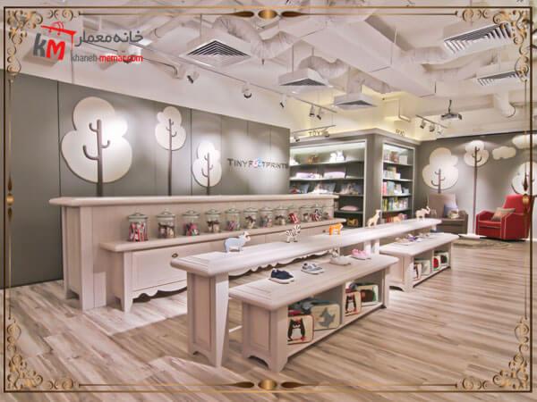 دکوراسیون شیک طراحی شده برای مغازه