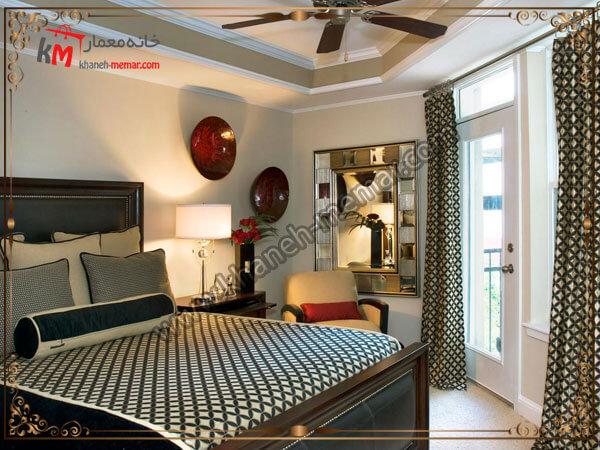 ترکیب رنگها در اتاق خواب دکوراسیون