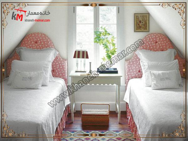 قرار دادن تخت خواب در اتاق خواب کوچک