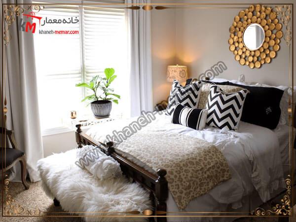 استفاده از گل و گیاه در اتاق خواب کوچک