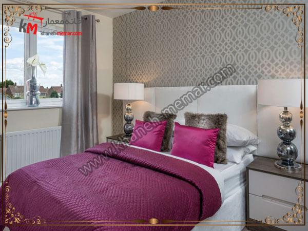 استفاده از کاغذ دیواری در اتاق خواب