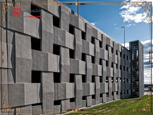 طراحی نمای ساختمان با استفاده از سیمان