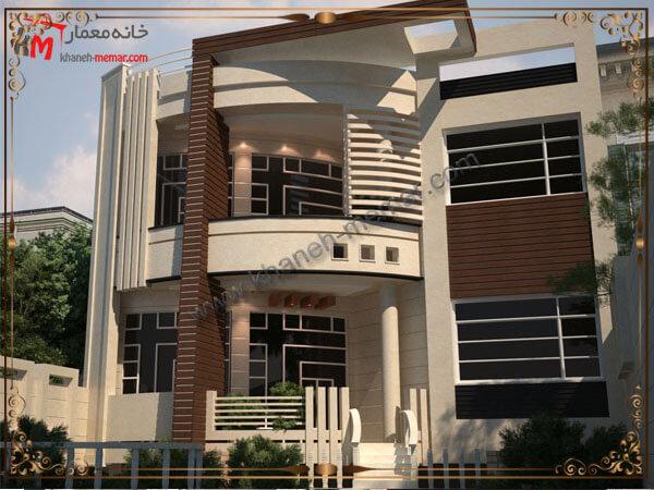 طراحی نمای مدرن ساختمان دوبلکس