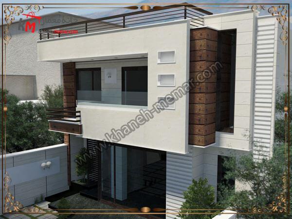 طراحی شیک نمای ساختمان دوبلکس
