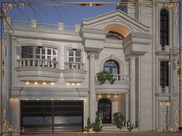 نمای کلاسیک دو طبقه