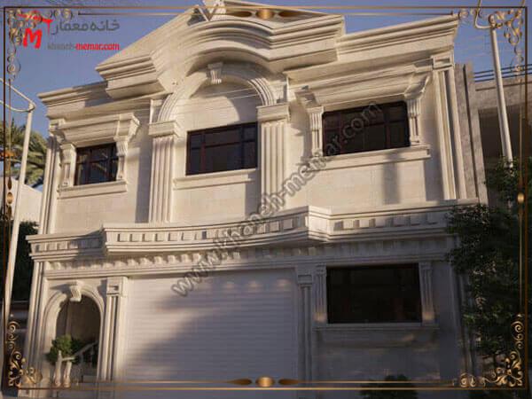 نمای ساختمان به سبک کلاسیک