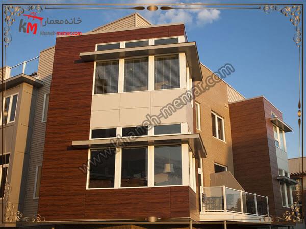 نمای ساختمان به سبک مدرن