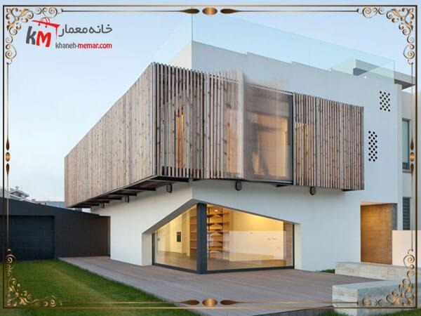 نمای ساختمان ویلایی به سبک مینیمال