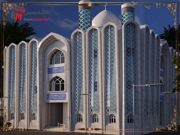 طراحی نمای مسجد با استفاده از طراحی اسلامی