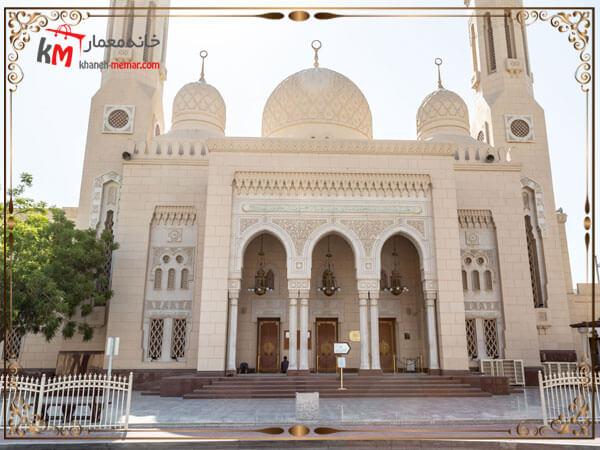طراحی زیبای نمای بیرونی مسجد