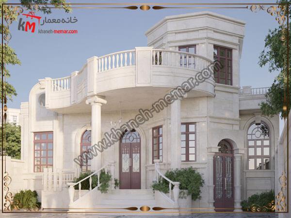 طراحی نمای ساختمان به سبک نئوکلاسیک