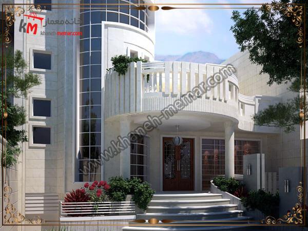 نمای ساختمان با متریال سنگ