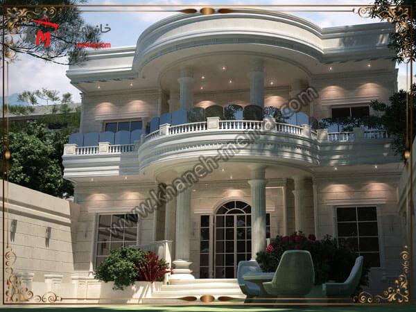 نمای ساختمان به سبک نئوکلاسیک