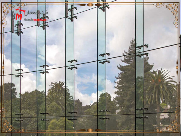 طراحی نمای شیشه ای از نوع اسپایدر