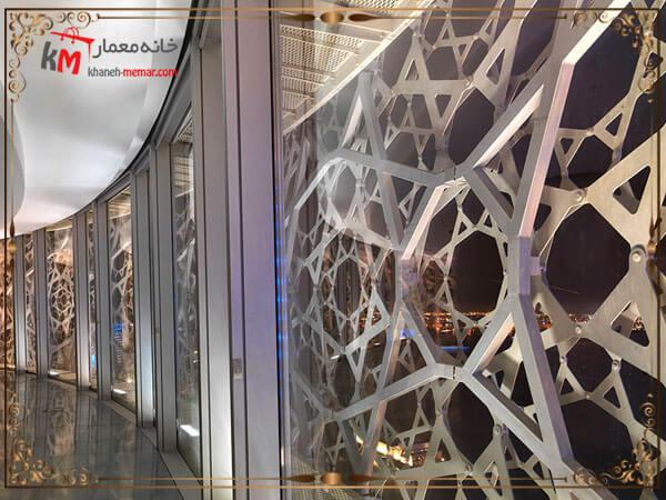 نمای شیشه ای با ترکیب فلز