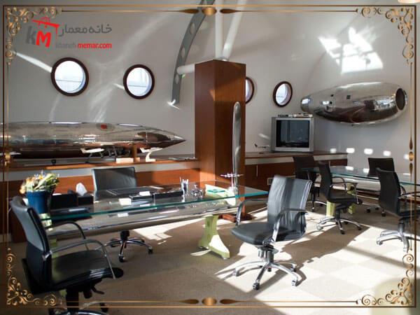 دکور داخلی دفتر هواپیمایی