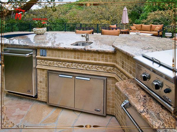 انتخاب مصالح و وجود سینک ظرفشویی در کنار کباب پز