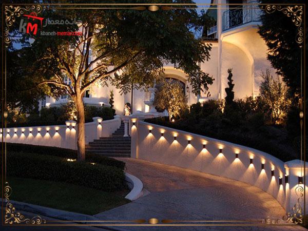 نورپردازی مسیر پله ها