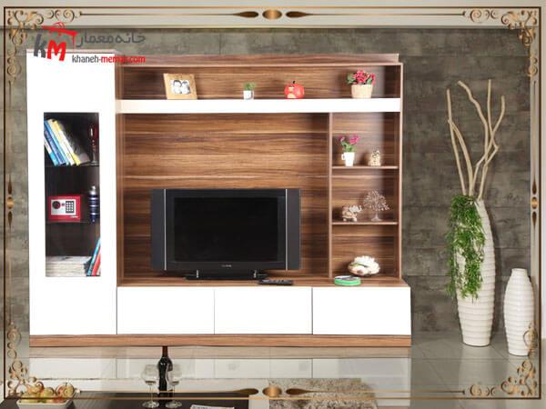 طراحی دکور تلویزیون دیواری با ام دی اف