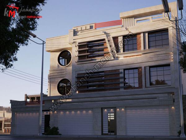 نمای جنوبی اپارتمان پروژه 904