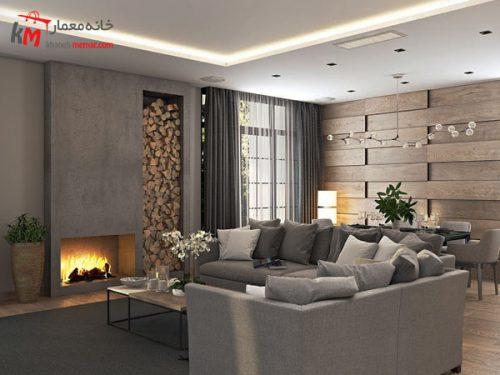 طراحی داخلی ساختمان به سبک مدرن