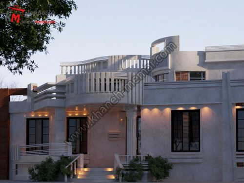 نمای ساختمان به سبک مدرن پروژه