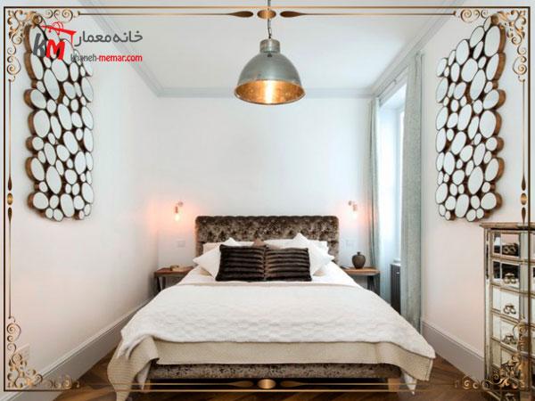 استفاده از کاغذ دیواری مناسب به کارگیری و استفاده از چراغ آویز و لوستر های زیبا